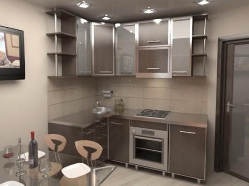 Дизайн 5 кв кухни