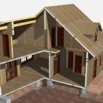 Узнаем про каркасно щитовые дома