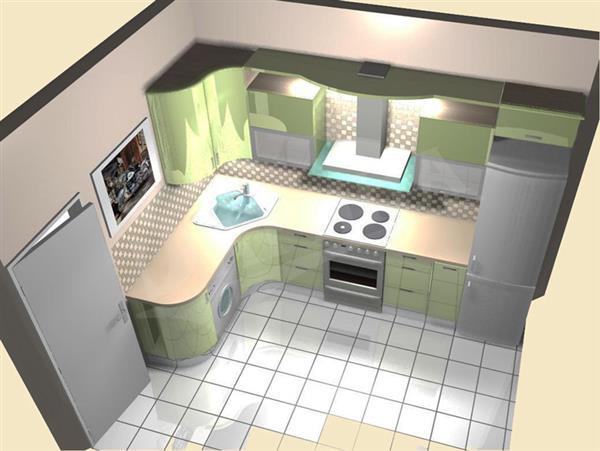 Кухня дизайн 3 м на 5 м