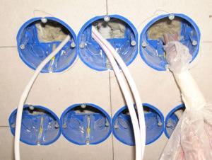 электропроводка под гипсокартоном
